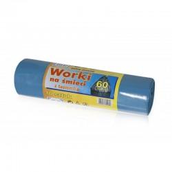 Worek na śmieci 60 L z tasiemką LDPE
